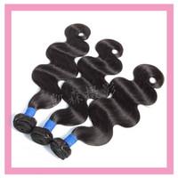Extensões de cabelo virgem indiana 3 peças Um conjunto Human Hair Body Wave Bundles Atacado 95-100g / peça Produtos de cabelo