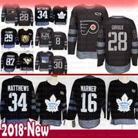 100º aniversário Filadélfia Philadelphia 28 Claude Giroux Hóquei Jersey Toronto Maple Leafs 34 Auston Matthews 16 Mitch Marner Jerseys