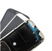 شاشة Oled لشاشة Samsung S4 IV وشاشة تعمل باللمس مع محول الأرقام مع الإطار وزر Flex i545 L720 R970