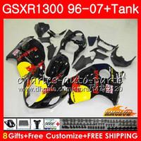 Kit para SUZUKI GSXR-1300 GSXR1300 Hayabusa amarelo vermelho quente 96 97 98 99 00 01 07 24HC.76 GSXR 1300 1996 1997 1998 1999 2000 2001 2007 Carenagens