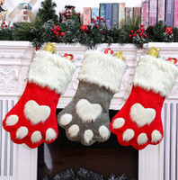 Creative Dog Paw Christmas Stocking Christmas Tree Ornaments...