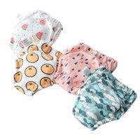 Couches en tissu 2021 Diaphragme de bébé Diaphragme étanche Réutilisable Coton Pantalon Pant Pantalon Brefs Sous-vêtements Couches Couches Nappies Culotte enfant Nappy Changi