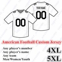 5XL NEW كرة القدم الأمريكية CUSTOM جيرسي جميع 32 فريق مخصص أي اسم أي عدد الحجم S-6XL مزيج من أجل الرجال النساء الشباب مخيط الاطفال