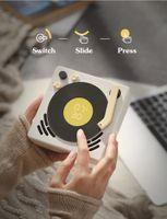 2021 شعبية جديد phonograph مصغرة الرجعية تصميم بلوتوث المتكلم الموسيقي المنبه النوم الموقت القرص الدوار caixa دي سوم portatil