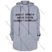 Shirt ALLKPOPER KPOP Jimin righe Bangtan Boys Ali Fansigning ricamo camicetta T200321