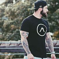 Mens Athletic T-shirt Homme Gym Fitness Casual Cotton Crew Summer cou à manches courtes T-shirt