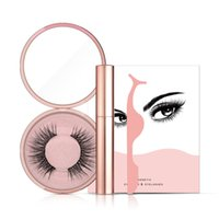 Magnetic Liquid Eyeliner Magnetic False Eyelashes Tweezer Set Magnet False Eyelashes Set Pegamento Maquillaje Herramientas Conjunto de belleza GGA2275