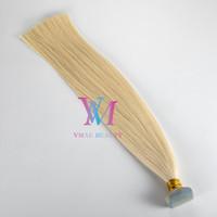 VMAE Hohe Qualität Europäische russische Blondine # 613 Natürliche Farbe 100g Doppelgezeichneter Salonshop Gerade Jungfrau Remy Human Hair Verlängerungsband in