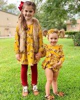 Nuevo juego del niño de la niña de ropa hermanas juego floral del mameluco de vestir Trajes Set