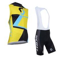 2020 MTB Equipo de bicicleta Scott hombres transpirable ciclismo jersey sin mangas bicicleta ropa de verano carreras de verano bicicleta jersey babero pantalones cortos k121105