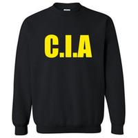 CIA hoodies lei homens moletom preto com capuz algodão novo