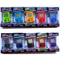 Tetris Game Box Handheld Игровые приставки Мини ретро игры игрока Ключевые цепи подвеска 26 игр для детей лучший рождественский подарок игрушки с розничной коробкой