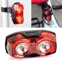 2 LED Bicycle Rear Tail Light Cycling Safety Warning Flashin...