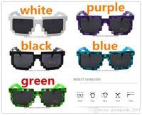 4 colori! Moda occhiali da sole per bambini gioco cos action game Giocattoli Minecrafter Square Occhiali con custodia EVA regali per Uomo Donna D022