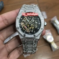 Montres Global Hot Luxury Montres Ice Diamond Watch Montres Silver Diamond Watch Montre mécanique automatique de sport