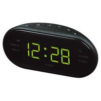 AsyPets Yeni Moda Modern AM / FM LED Saatli Radyo Elektronik Masaüstü Çalar Saat Dijital Masa Saatleri Erteleme Function-25