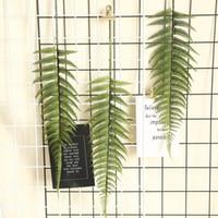أوراق ديكور المنزل محاكاة نبات السرخس زهرة الاصطناعي العشب الأخضر الفارسي النباتية للDIY الزفاف عيد الميلاد الديكور