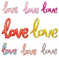 """SPEDIZIONE GRATUITA Love Script Foil Balloon 40 """"- Palloncini oro rosa Love Balloons Addio al nubilato Idee per decorazione di nozze Doccia nuziale"""