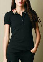 Качество летнее печать футболки плюс размер женской моды с коротким рукавом полос шеи женские дизайнерские тройники топы классические офисные клетчатые тройники рубашки