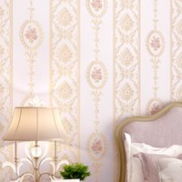 10m *0.53m 3D Romantic pink warm non-woven embossed wallpaper new home decoration main material Garden bedroom living room TV wall decor
