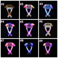 26 Styles Led dessin animé en peluche Cap animal pour Lapin Lapin Chat Oreille Moving Light Chapeaux adultes Enfants Noël Chapeaux chauds ZZA1430-4