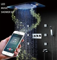 Stainless Steel bluetooth Music Led Bathroom Shower Faucet S...