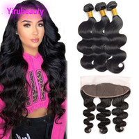 Brazilian Virgin Hair 3 Bundles With 13X4 Lace Frontal Body ...