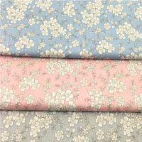 Stoff Schöner 40x50cm Rosa Blau Grau Japan Kirschblüten Sakura Blumen 100% Baumwolle Twill Bündel