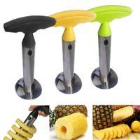 Ananas en acier inoxydable Peeler Accessoires ananas trancheuse fruits Couteau Cutter carottier Slicer Cuisine Accessoires de cuisine Outils