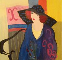 Itzchak Tarkay Nouvelles figuración Inicio Obra de Senhora retrato hecho a mano pintura al óleo sobre lienzo cóncavas y convexas textura IT028