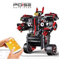 YX RC موازنة سيارة روبوت بناء كتلة لعبة، ديي للبرمجة، الحث الجاذبية، التحكم الصوتي، بلوتوث المتكلم، للطفل هدية عيد الميلاد