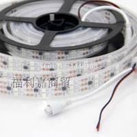15m / lot WS2811 RGB led 스트립 5050 SMD 방수 DC12v 450leds 90 픽셀 / m 흰색 pcb 빛, 프로그램 가능 유연한 주소 지정 가능