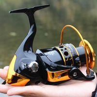 Metal İplik Makara (Gapless) 12 +1 BB 5.2: 1 Sazan Balıkçılık Reel Fly Tekerlek Deniz Rod Reel olta takımları Pesco Balıkçılık Aksesuarları