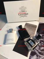 Cadılar bayramı sıcak satış En Kaliteli 30 ml * 3 Creed Köln Parfüm Erkekler için Uzun Ömürlü Yüksek Koku ile Yüksek Kalite Set Kutu Gif ücretsiz alışveriş