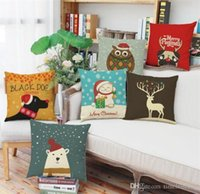 Christmas cute animal series pillow case Christmas and New Y...