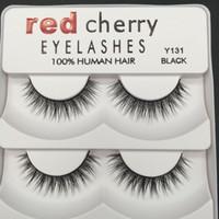 Vente chaude 2018 Rouge Cerise 3D Faux Cils 5 paires / pack 8 Styles Naturel Longue Maquillage professionnel Gros yeux
