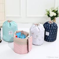الجملة 7 ألوان متعددة الوظائف حقيبة السفر التخزين صديقة للبيئة الملونة اسطوانة الرباط حقيبة مستحضرات التجميل ماكياج كبير أكسفورد القماش DH0646