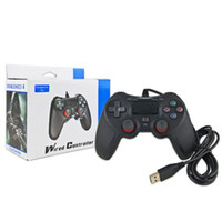 جديد PS4 USB السلكية تحكم جيم ب لPS4 لعبة وحدة تحكم الاهتزاز السلكية المقود لجيم ب مقبض بلاي ستيشن 4
