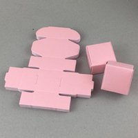 50pcs / Lot 4x4x2.5cm Mini cinco cores papelão Gift Card Candy Caixa Para Valentine`s Day dom sabão Macaron Mostrar Supplies Box