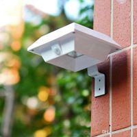 Solar Super Bright PIR Sensor de Movimento Waterproof Wireless Security Lâmpada Luz Para Jardim parede exterior Quintal plataforma Auto On / Off Dusk to Dawn