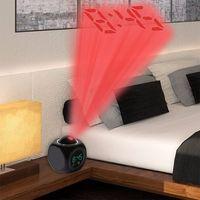 شاشات الكريستال السائل الإسقاط الصمام عرض الوقت المنبه الرقمي الحديث صوت موجه ميزان الحرارة منع غفوة وظيفية مكتب المنبه DH1113