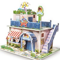 20Set 3D DIY Puzzle Castle Model House Assembling Paper Toy ...