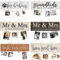 DIY Wall Hanging Wood Photo Board Picture Display Board Clip...