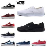 640b04dc65805 Hot Vans Old Skool Men Women Casual Shoes black white blue red Skateboard  Black White Canvas Skate Sneaker size 36-44