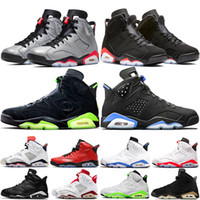 Top Quality air jordan 6 retro 6 6s SP 3M Argent Infrarouge Noir CI4072-001 Réflexions d'un champion 6s VI UNC DMP Hommes Basketball Sport Chaussures Sneakers
