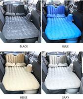 سيارة الهواء نفخ السفر فراش السرير العالمي للمقعد الخلفي متعددة الوظائف أريكة وسادة في الهواء الطلق التخييم حصيرة وسادة