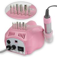 Sıcak Nail Art Ekipmanları Elektrik Akrilik Nail Art Matkap Oje Makinesi Dosya Tampon Uçları Manikür Pedikür Seti 110v - 220v DHL