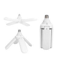 Edison2011 E27 Lüfterblatt LED Glühbirne 60W 4 Klinge Klappgarage Lampe 110-265V Verstellbare Deckenleuchte Warmweiß / cool weiß
