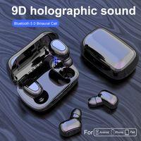 سماعة لاسلكية سماعات بلوتوث L21 5.0 سماعات الأذن البسيطة TWS الرياضة ستيريو مع ميكروفون إلغاء الضوضاء الشحن صندوق للهاتف الخليوي