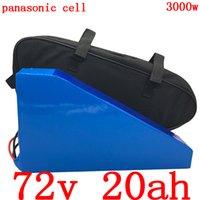 72V 2000W 2500W 3000W bicicleta eléctrica de la batería 20AH bicicleta uso de litio celular Panasonic + cargador 5A